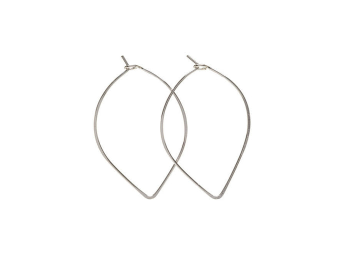 Kenda Kist Closed Wire Hoops in Sterling Silver
