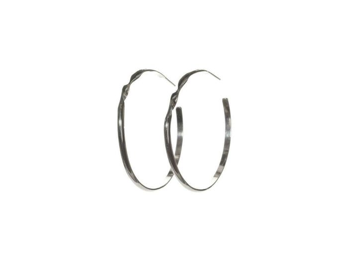 Kenda Kist Crysta Hoops in Sterling Silver