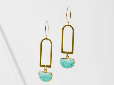 Larissa Loden Casablanca Earrings Amazonite