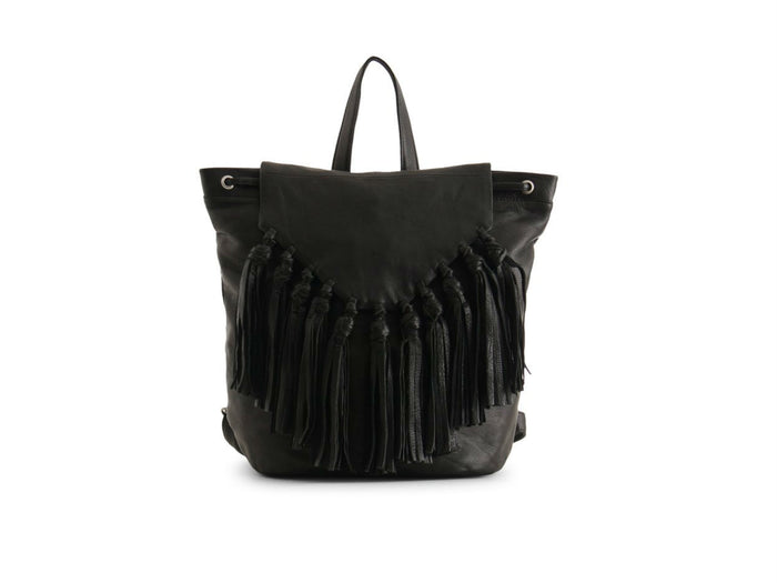 Day & Mood Lee Leather Backpack in Black