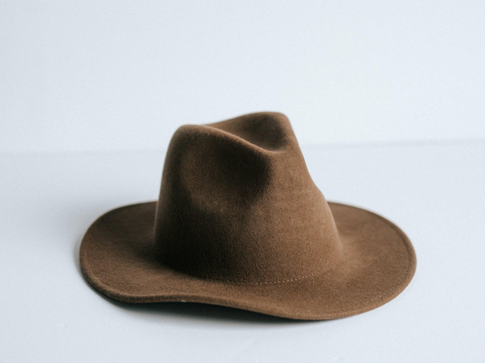 Gigi Pip Leo Fedora Hat Brown