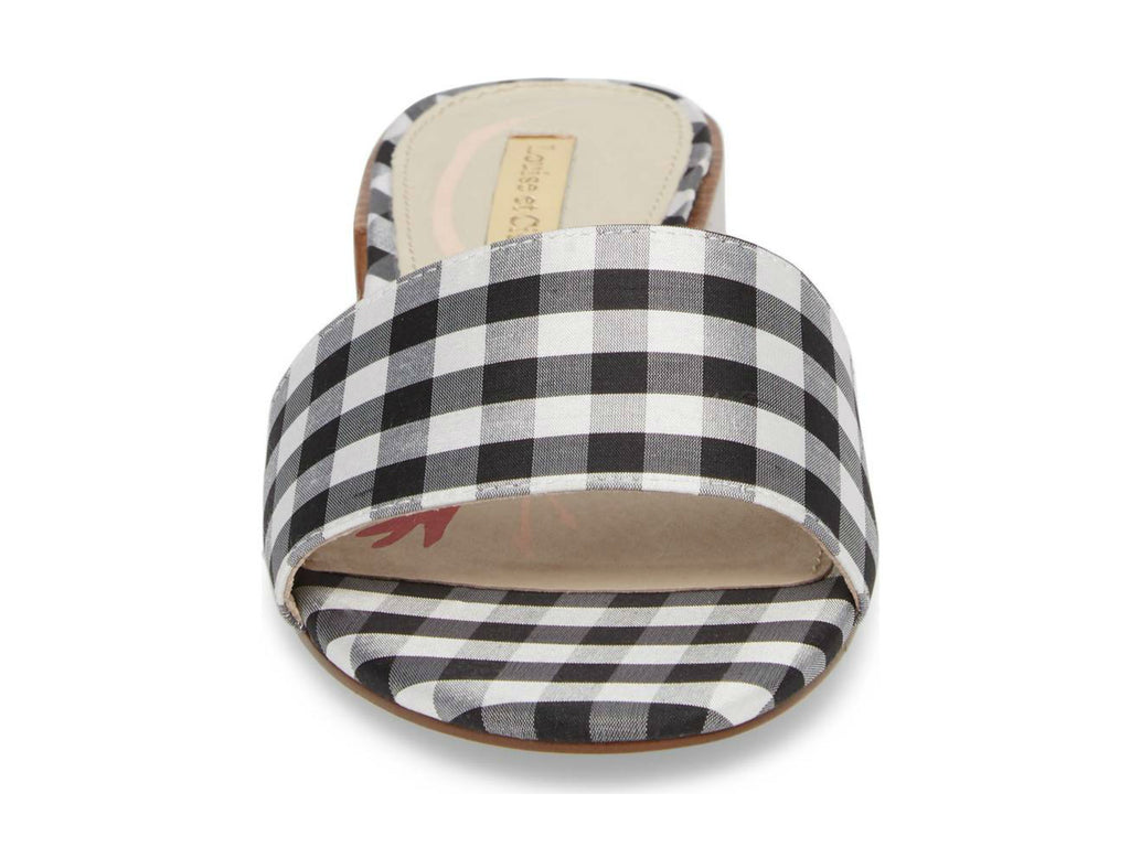 Louise et Cie Aydia Slide Sandal in Black/White Gingham