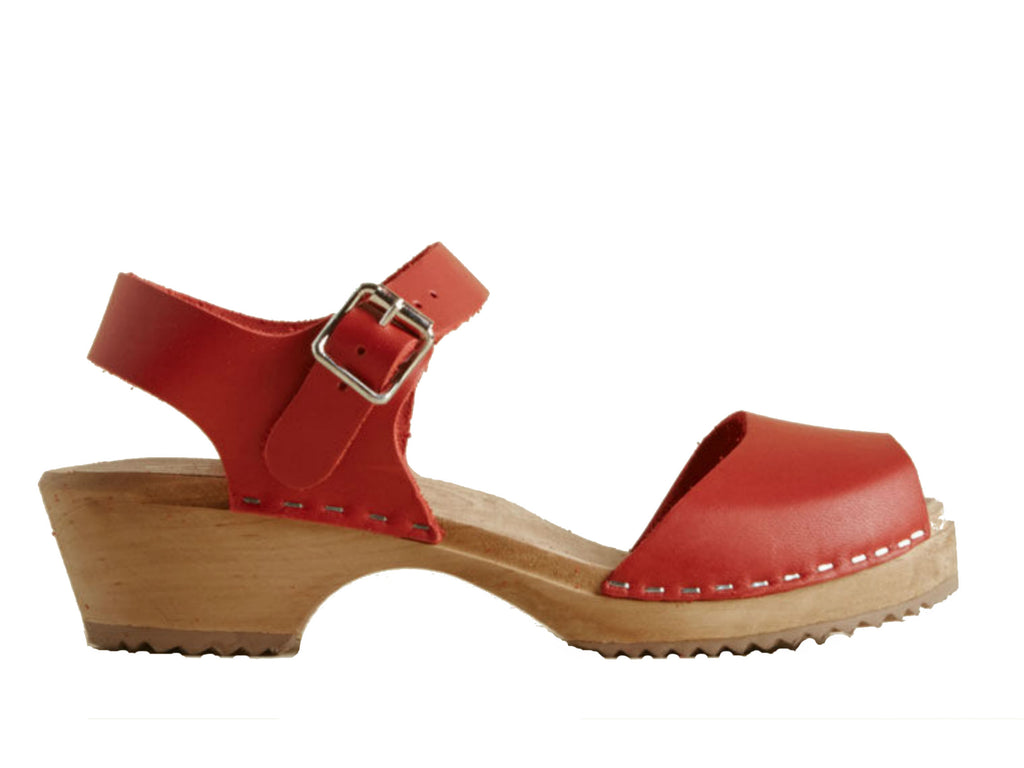 58d09a777978 MIA Anja Mary-Jane Low Clog in Red – Gild Shoes