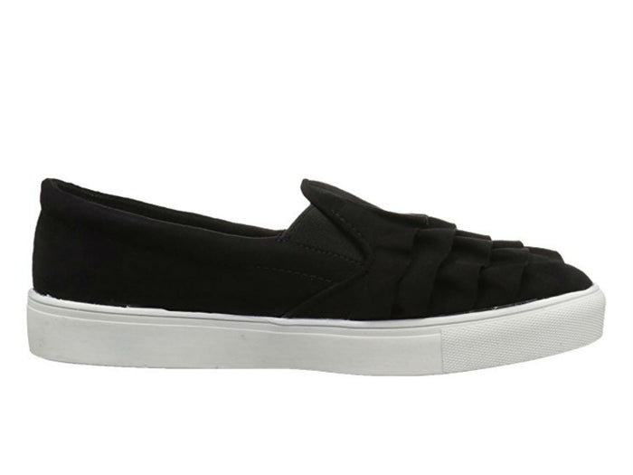 MIA Margaret Ruffle Sneaker in Black