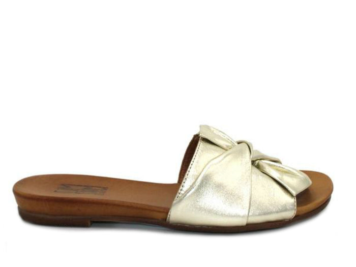 Miz Mooz Angelina Slide Sandal in Gold