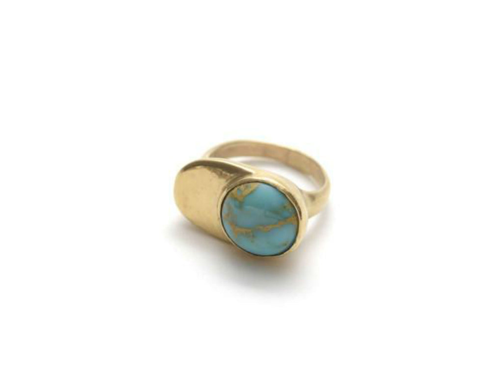 Seaworthy Esposa Ring in Turquoise