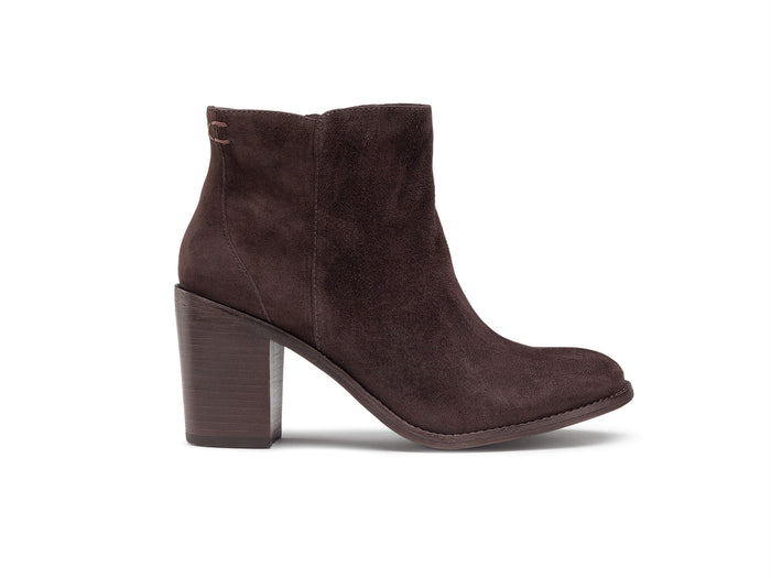 Trask Tinsley Bootie in Brown Suede