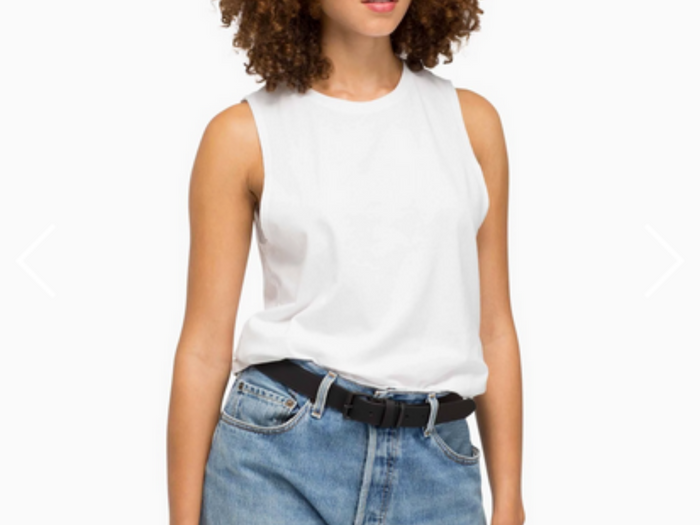 Richer Poorer Muscle Tee White