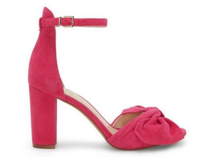Vince Camuto Carrelen Block Heel in Hot Berry Pink