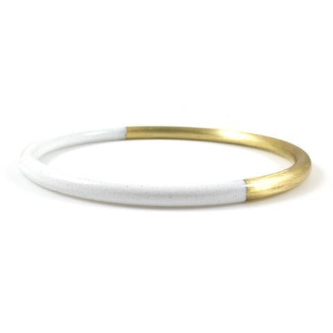 Baleen White Dipped Bangle