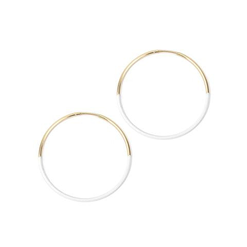 Baleen Small White Dipped Hoops
