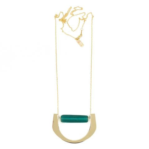Baleen Level Necklace - Green