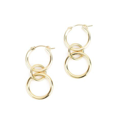 Baleen Stack Hoops - Gold