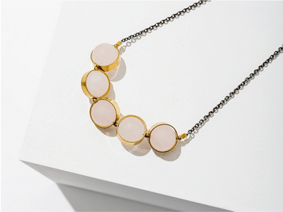 Larissa Loden Alignment Necklace - Rose Quartz