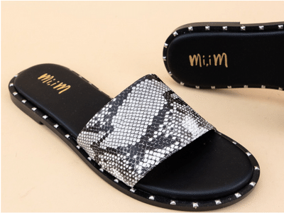 Miracle Miles Khloe Studded Slide - White