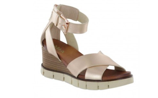 MIA Lauri Wedge Heel Sandal - Rose Gold