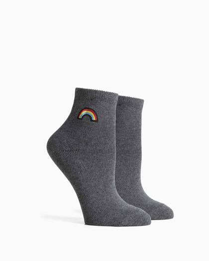 Women's Rainbow Socks - Charcoal