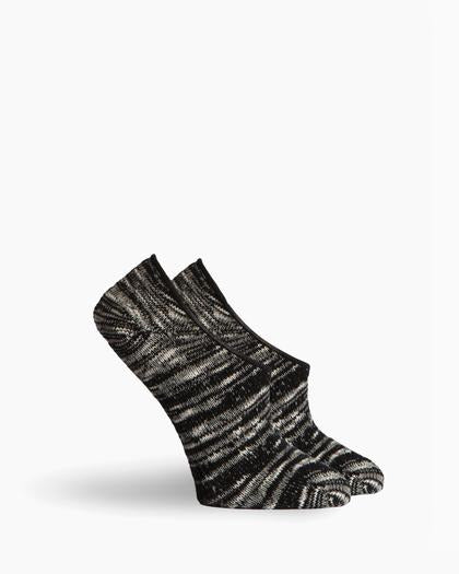 Women's Walden No Show Socks Textured Lightweight - Black