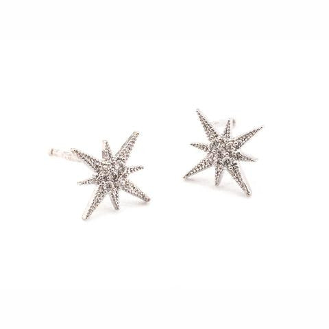 STARBURST EARRINGS SILVER
