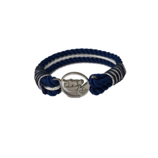 BREEZE NAVY & WHITE ROPE BRACELET
