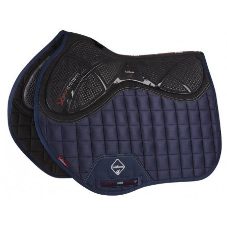 LeMieux Twin Sided X-Grip Euro Jump Square White, navy, black and benetton blue