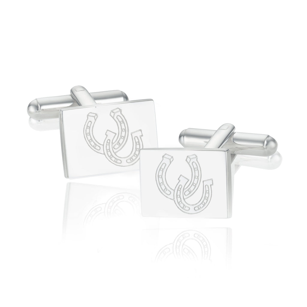 BREEZE HORSE SHOE SQUARE CUFFLINKS