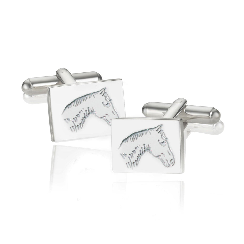 BREEZE PONY SQUARE CUFFLINKS