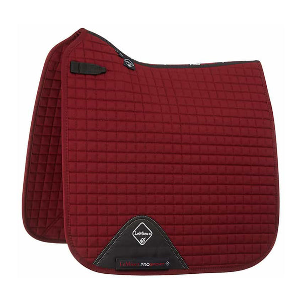 LeMieux ProSport Cotton Dressage Square Burgundy
