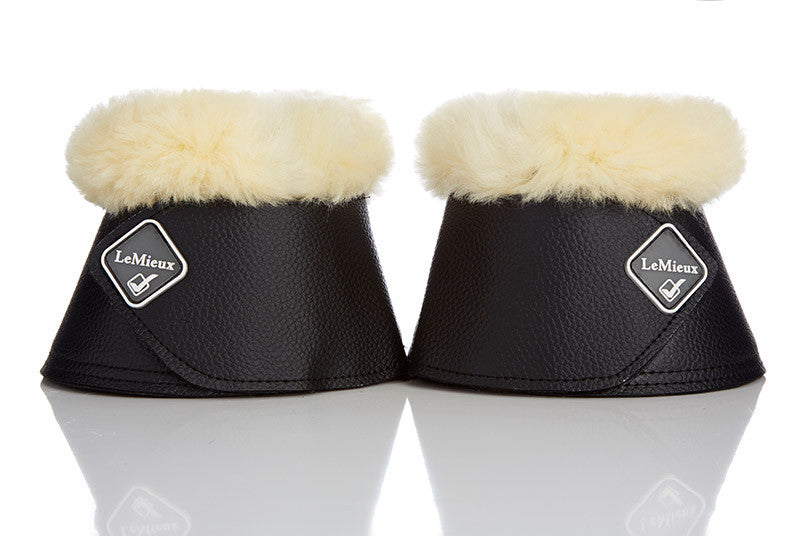 Lambskin Over Reach Boot - Black or white with natural Lambskin