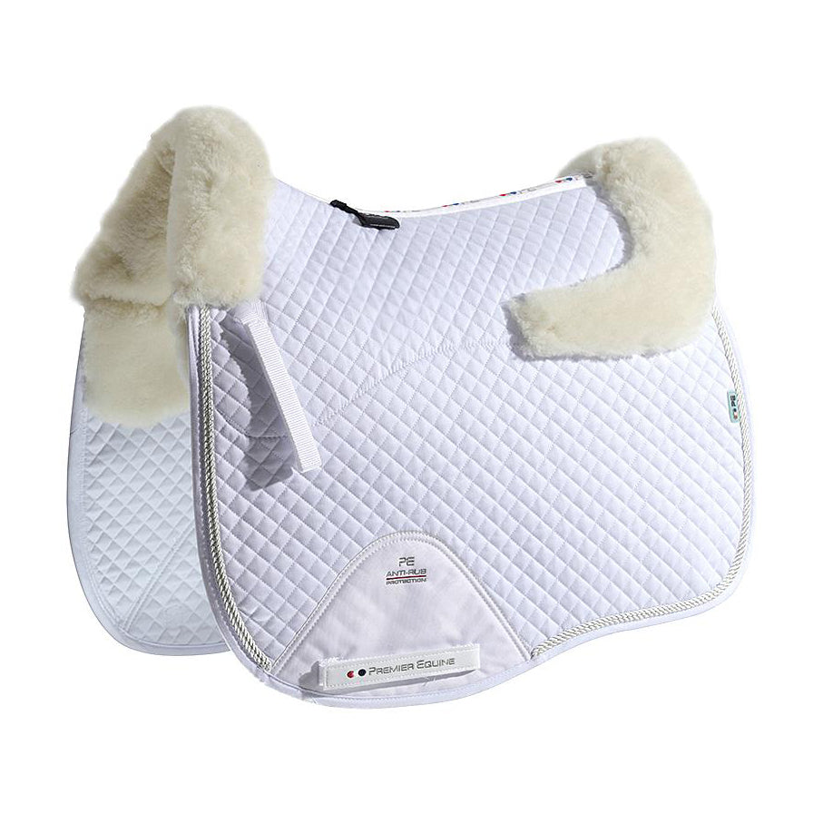 Merino Wool European Saddle Pad - Dressage Square
