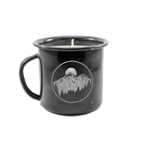 Enamel Cup Candle Black