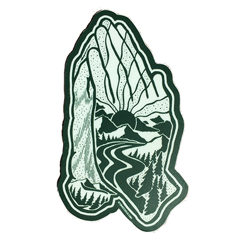 Praying Hands Decal