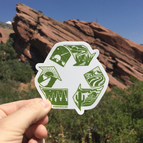 Recycle Nature Decal