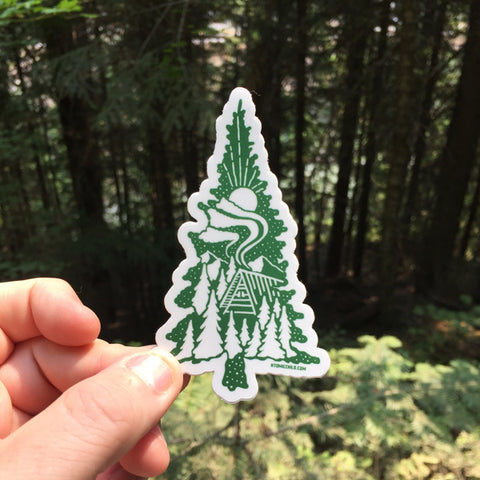 Tree Cabin Decal
