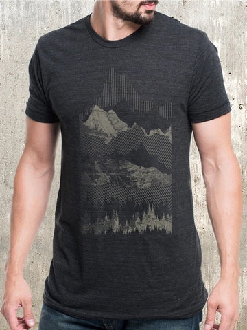 Geometric Mountains Tee