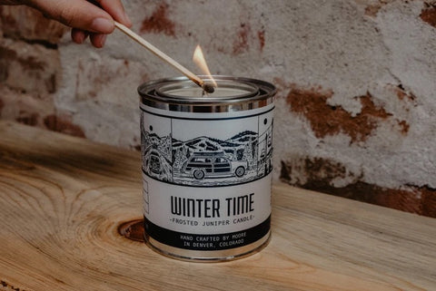 Winter Time Candle