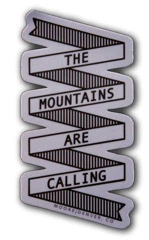 The Mountains Sticker