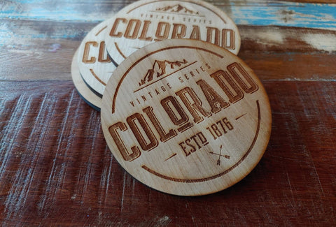 CO Vintage Coaster Set