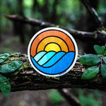 Circle Waves Sticker