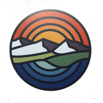 Circle Mountain Sunset Decal