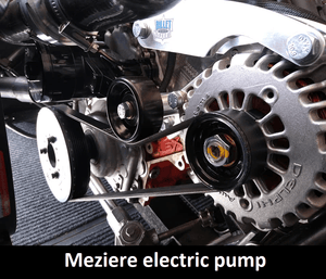Meziere Electric Pump, LS Alternator Only Bracket Type 1 Billet Speed