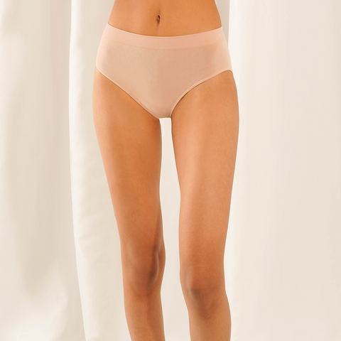 LNBF - Bamboo High Waisted Full Brief Natural Underwear All Things Being Eco