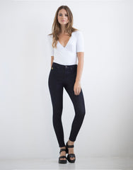 Second Yoga Jeans - Canadian Made Classic Rise Rachel Skinny Jeans in Prague All Things Being Eco