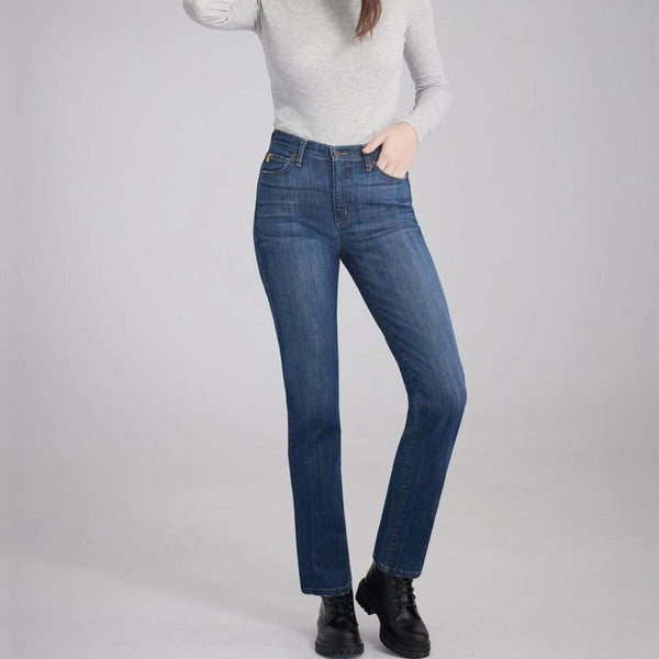 Second Yoga Jeans - High Rise Chloe Straight Leg in Buddha Made in Canada All Things Being Eco