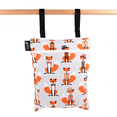 Colibri - Foxes Double Duty Reusable Cloth Wet Bag Made in Canada