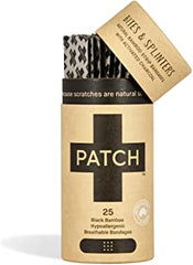 Patch - Activated Charcoal Organic Bamboo Bandages Bio-degradable Adhesive Strips All Things Being Eco