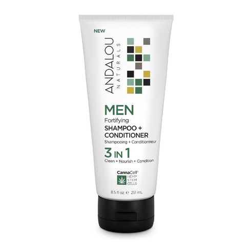 Andalou Naturals - Men's Fortifying Shampoo and Conditioner 3 in 1