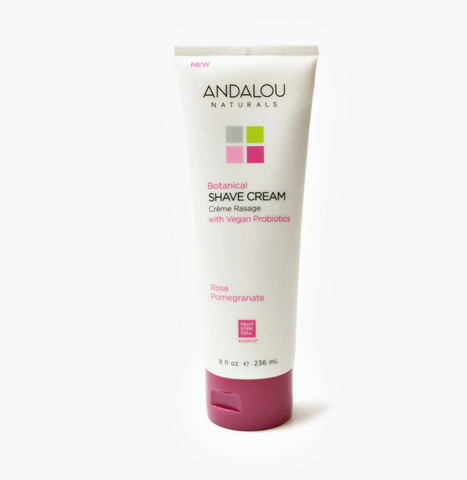 Andalou Naturals - Botanical Shave Cream - Rose Pomegrante