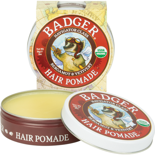 Badger - Organic Hair Pomade 56g. Men's USDA Organic Hair Grooming Products All Things Being Eco
