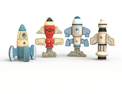 BeginAgain - Tinker Totter Rockets Construction & Character Play Set Eco-Friendly Toys All Things Being Eco